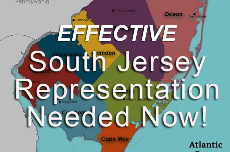 Update on South Jersey Representation